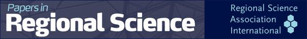 Latest Issue of Papers in Regional Science Now Online